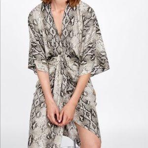 Zara Snake skin kimono dress
